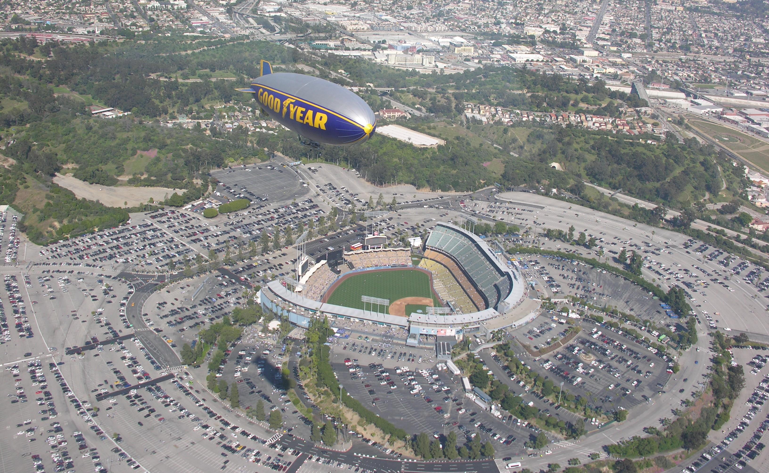 Stadium Aerial View Aerial Picture Dodger Stadium
