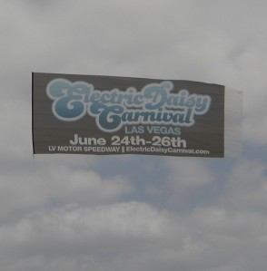 flying beach banner